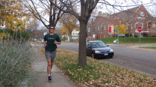 Jay Gabler jogging
